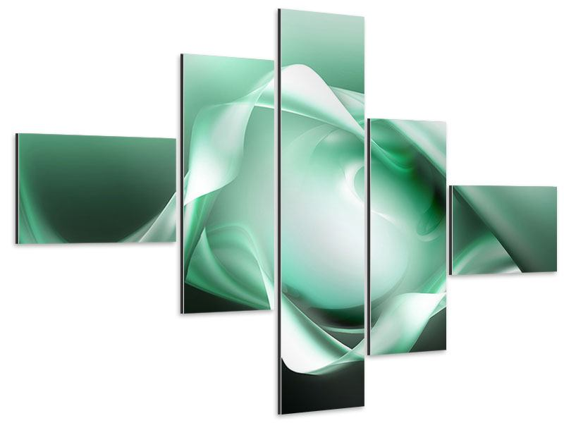 Aluminiumbild 5-teilig modern Abstrakt Tuchfühlung