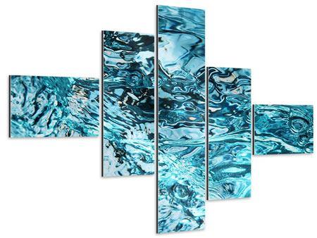 Aluminiumbild 5-teilig modern Schönheit Wasser