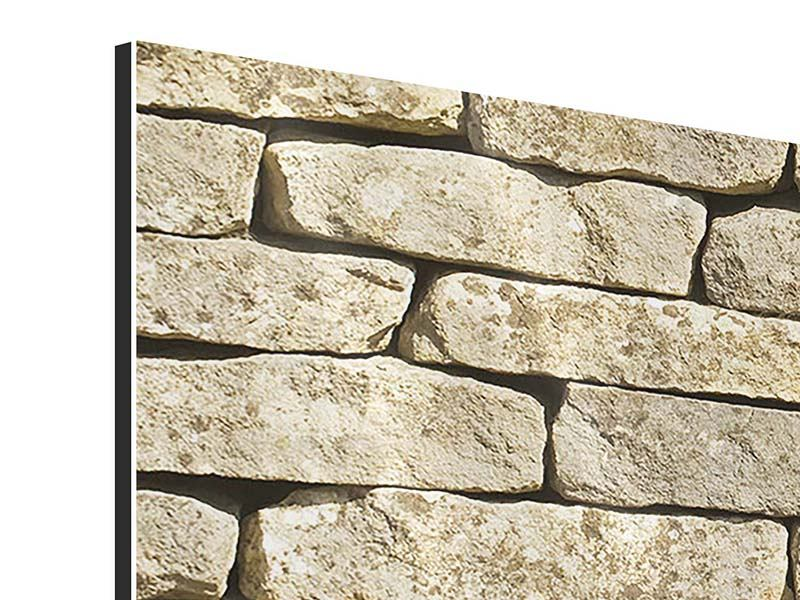 Aluminiumbild 5-teilig modern Alte Mauer