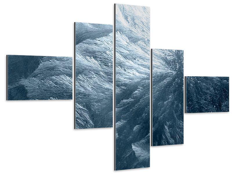 Aluminiumbild 5-teilig modern Eis