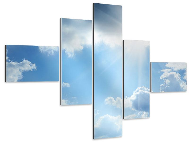 Aluminiumbild 5-teilig modern Himmelshoffnung