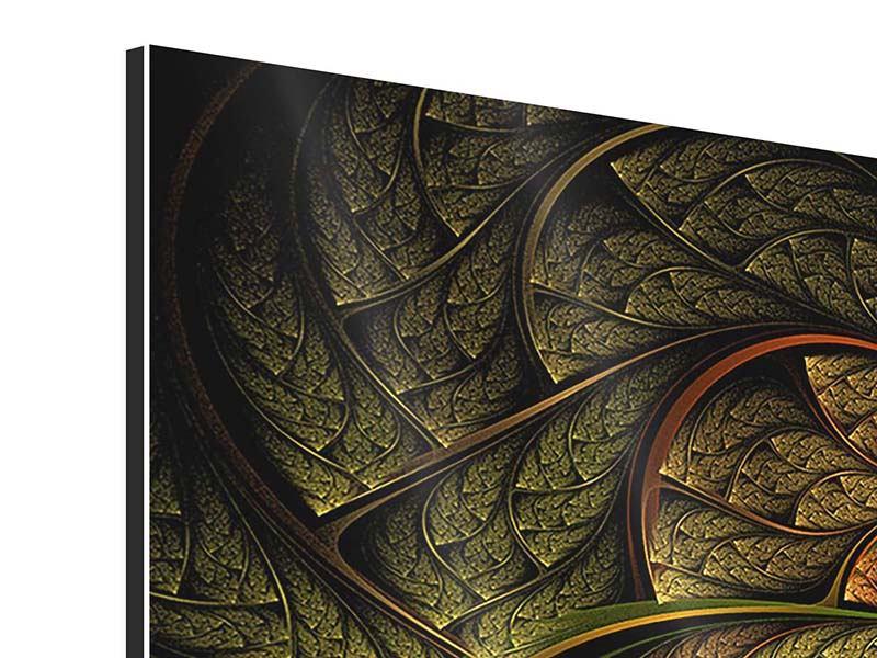Aluminiumbild 5-teilig modern Abstraktes Blumenmuster