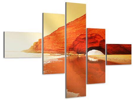 Aluminiumbild 5-teilig modern Wasserspiegelung