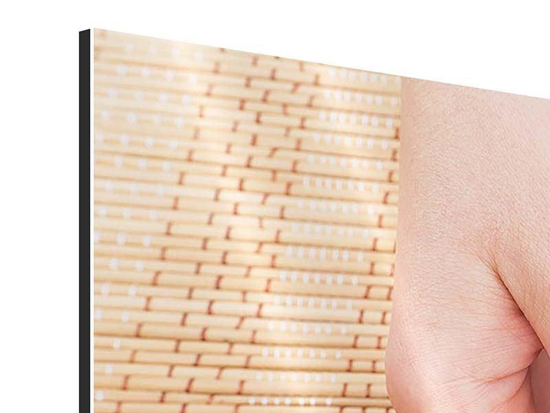 Aluminiumbild 5-teilig modern Schöne Füsse
