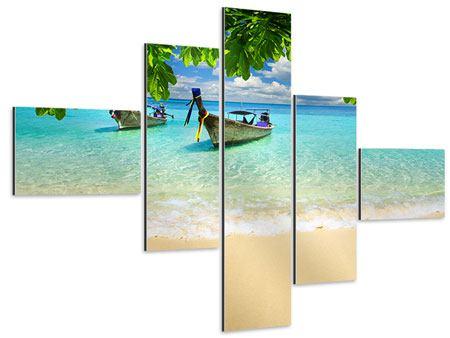 Aluminiumbild 5-teilig modern Ein Blick auf das Meer