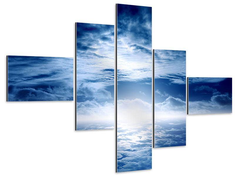 Aluminiumbild 5-teilig modern Mystischer Himmel