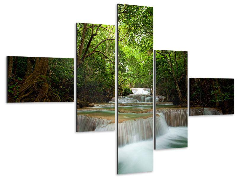 Aluminiumbild 5-teilig modern Die 7 Stufen