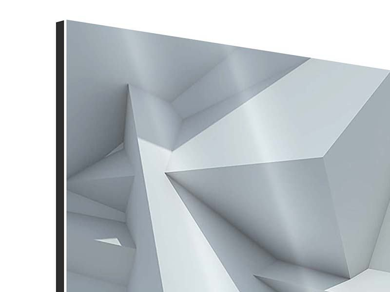 Aluminiumbild 5-teilig modern 3D-Kristallo
