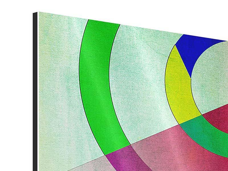 Aluminiumbild 5-teilig modern Wandkunst