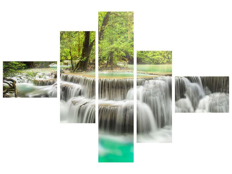 Aluminiumbild 5-teilig modern Erawan
