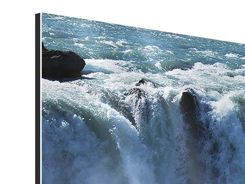 Aluminiumbild 5-teilig modern Mächtiger Wasserfall