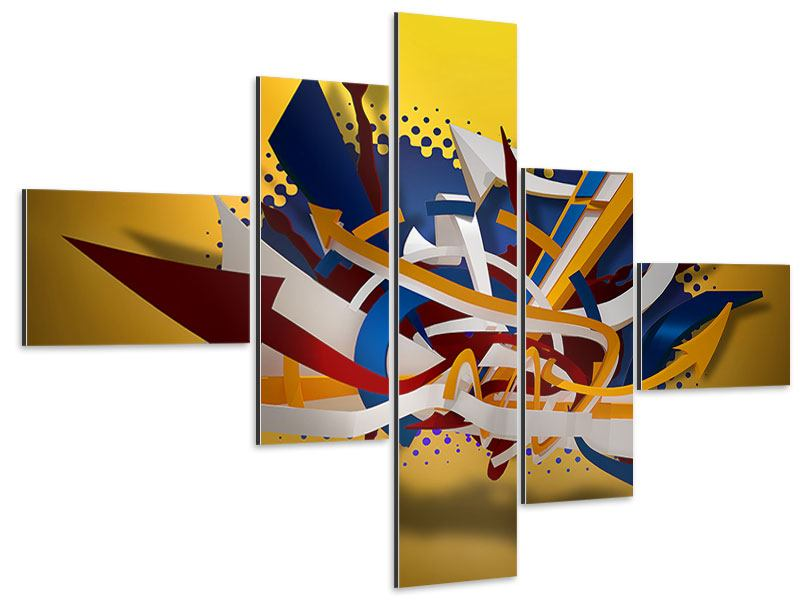Aluminiumbild 5-teilig modern Graffiti Art