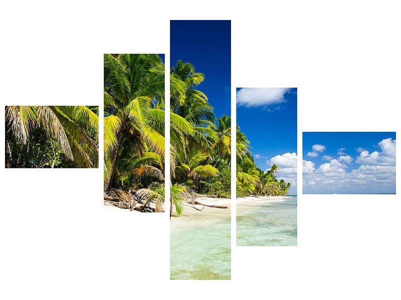 Aluminiumbild 5-teilig modern Die einsame Insel