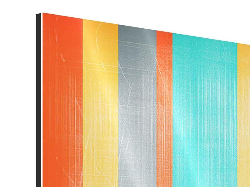 Aluminiumbild 5-teilig modern Grunge Streifen