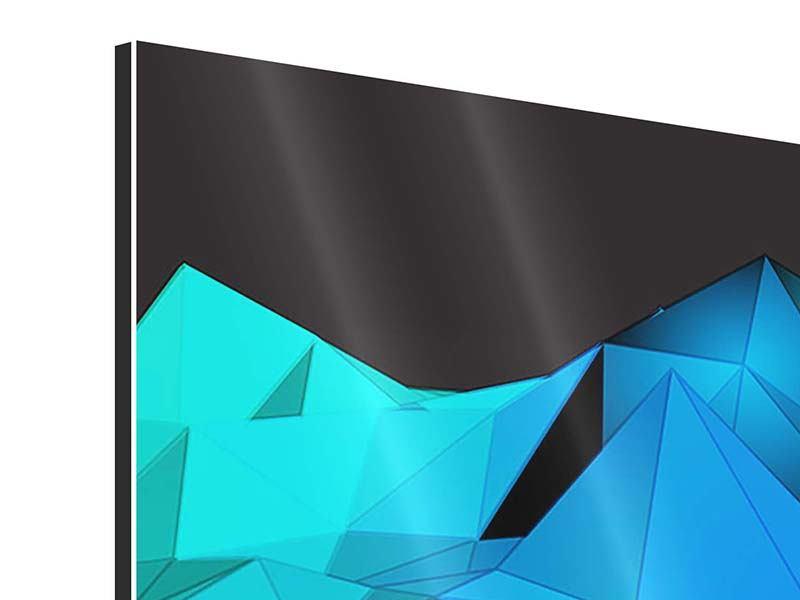 Aluminiumbild 5-teilig modern 3D-Diamonds