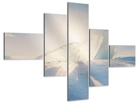Aluminiumbild 5-teilig modern Eislandschaft