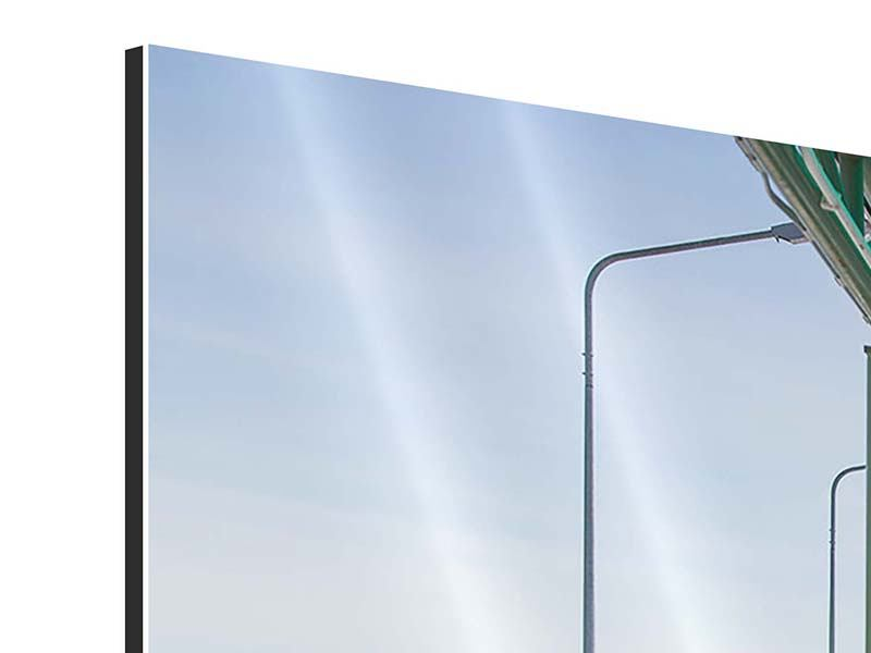 Aluminiumbild 5-teilig modern Die Brücke am Meer