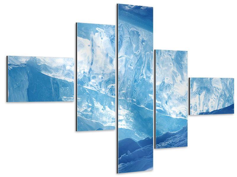Aluminiumbild 5-teilig modern Baikalsee-Eis