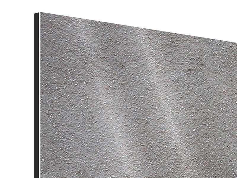 Aluminiumbild 5-teilig modern Beton in Dunkelgrau