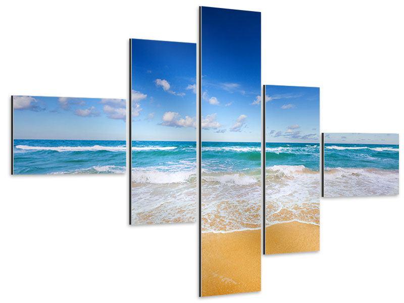 Aluminiumbild 5-teilig modern Die Gezeiten und das Meer