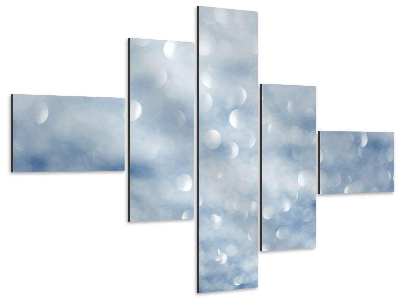 Aluminiumbild 5-teilig modern Kristallglanz