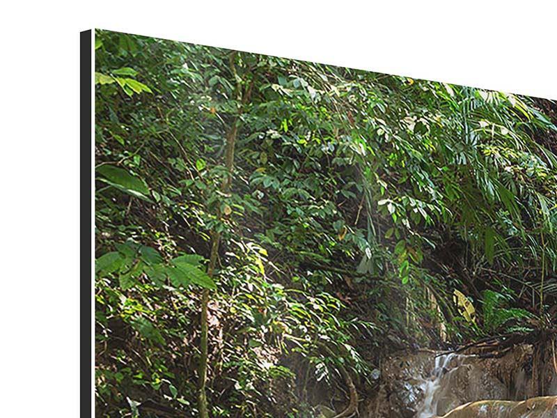 Aluminiumbild 5-teilig modern Mexikanischer Wasserfall