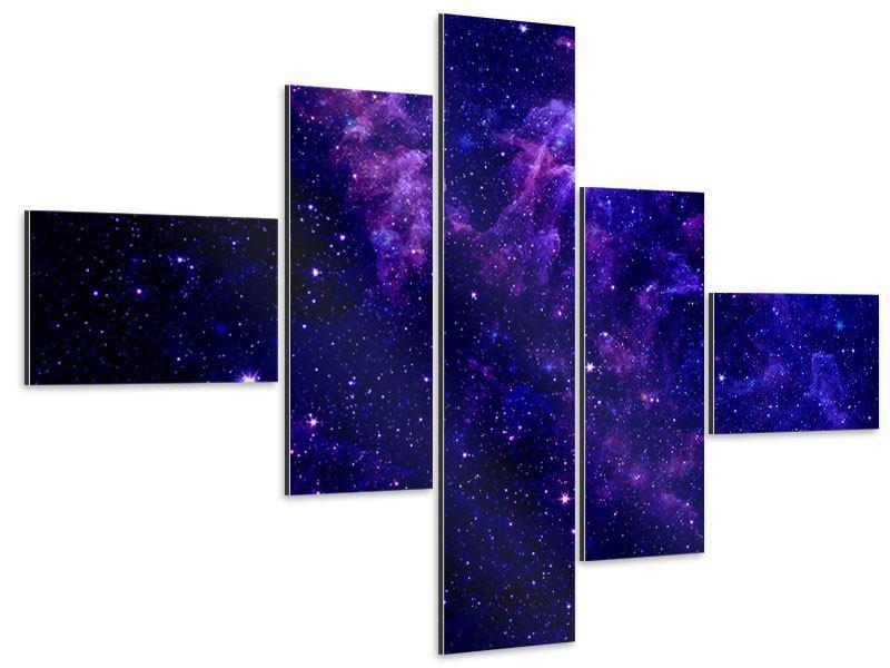 Aluminiumbild 5-teilig modern Ein Himmel voll Sterne