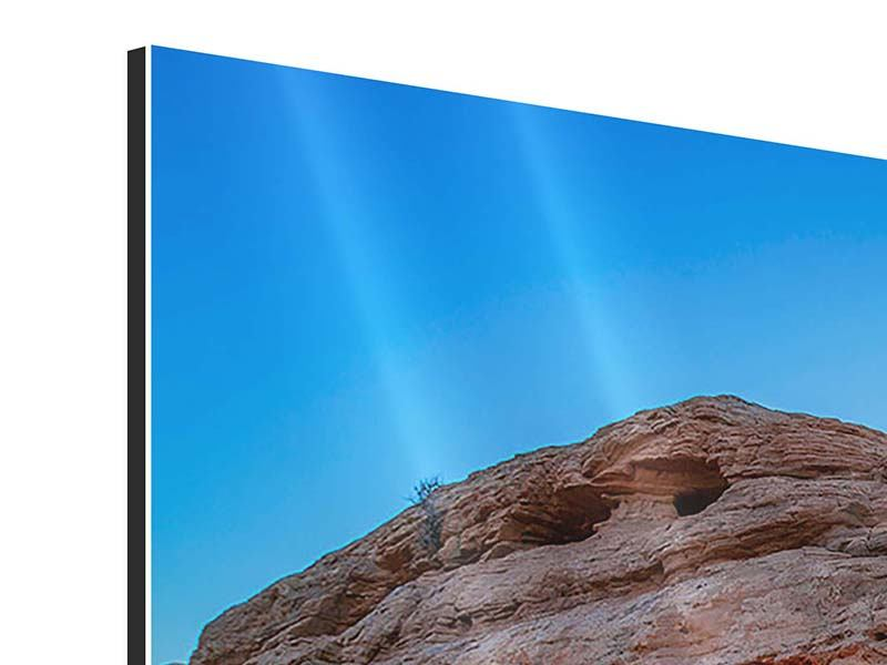 Aluminiumbild 5-teilig modern Sonnenuntergang am Mesa Arch