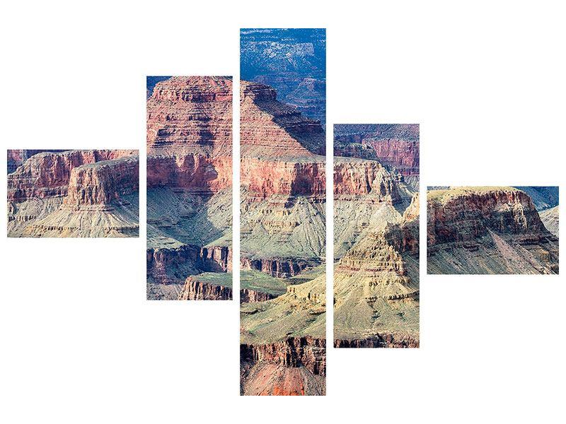 Aluminiumbild 5-teilig modern Gran Canyon