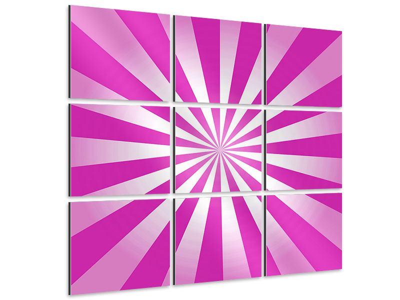 Aluminiumbild 9-teilig Abstrakt Lollipop