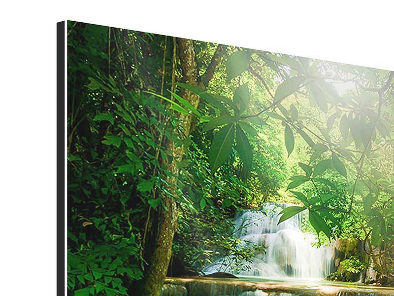 Aluminiumbild 9-teilig Wasserfall Thailand