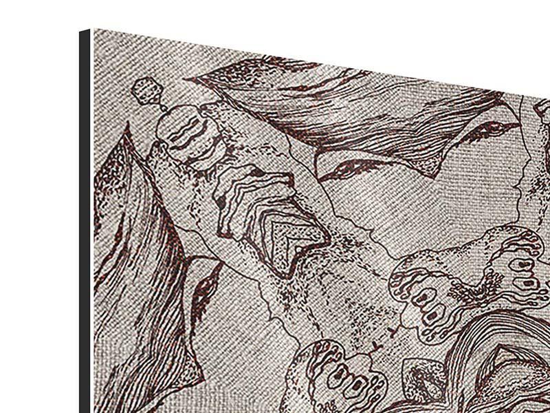 Aluminiumbild 9-teilig Retro-Style