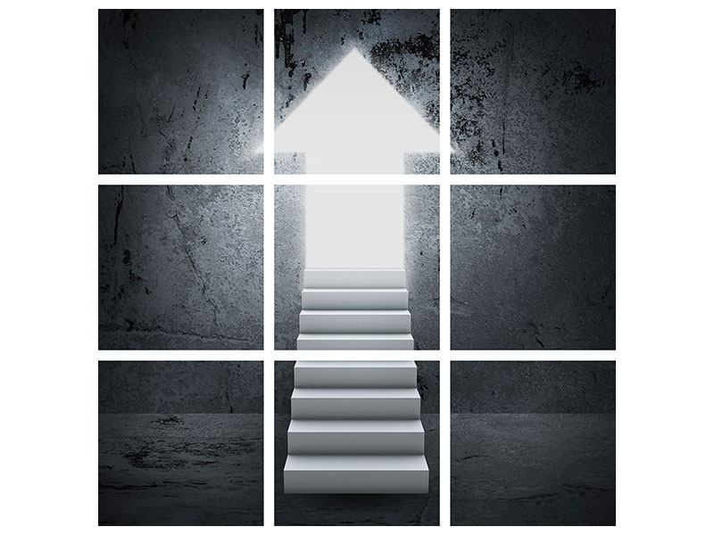 Aluminiumbild 9-teilig Der Aufstieg