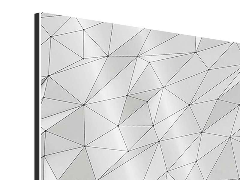 Aluminiumbild 9-teilig 3D-Geo