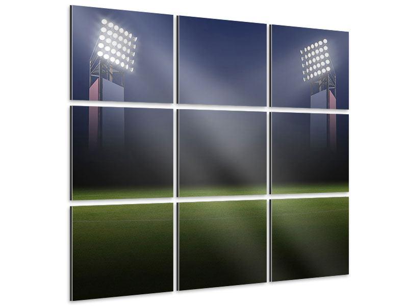 Aluminiumbild 9-teilig Fussballstadion