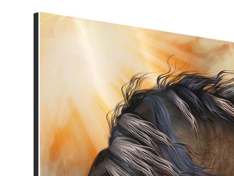 Aluminiumbild 9-teilig Black Beauty