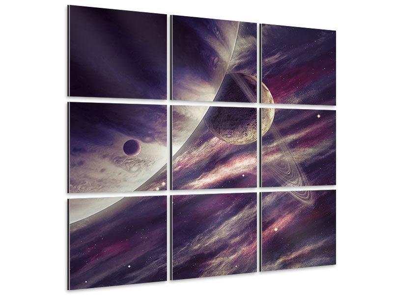 Aluminiumbild 9-teilig Weltraumreise