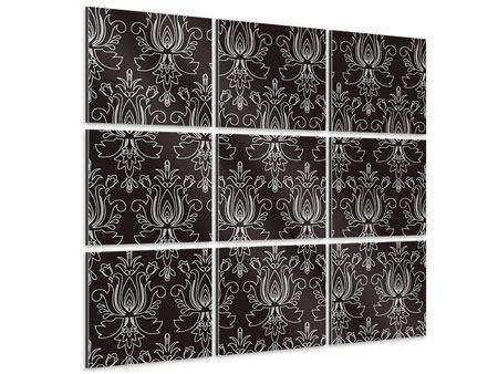 Aluminiumbild 9-teilig Barockstil