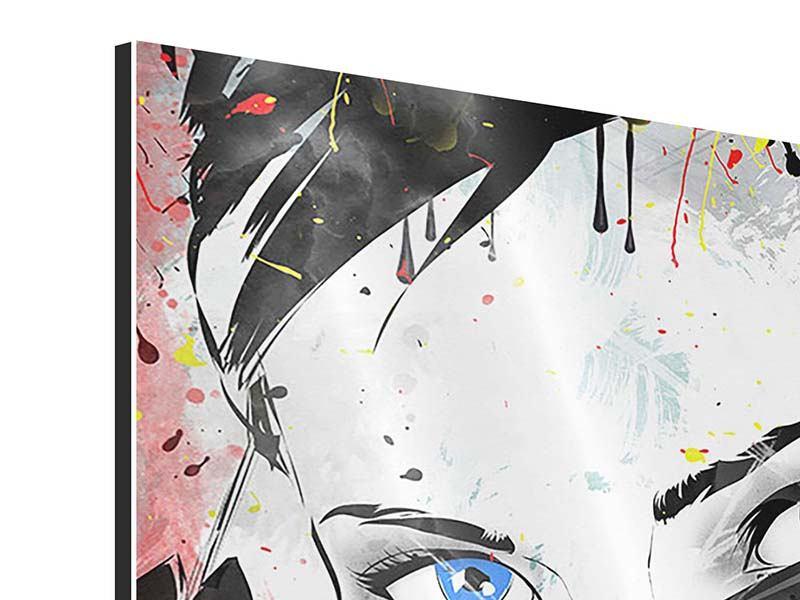 Aluminiumbild 9-teilig Face