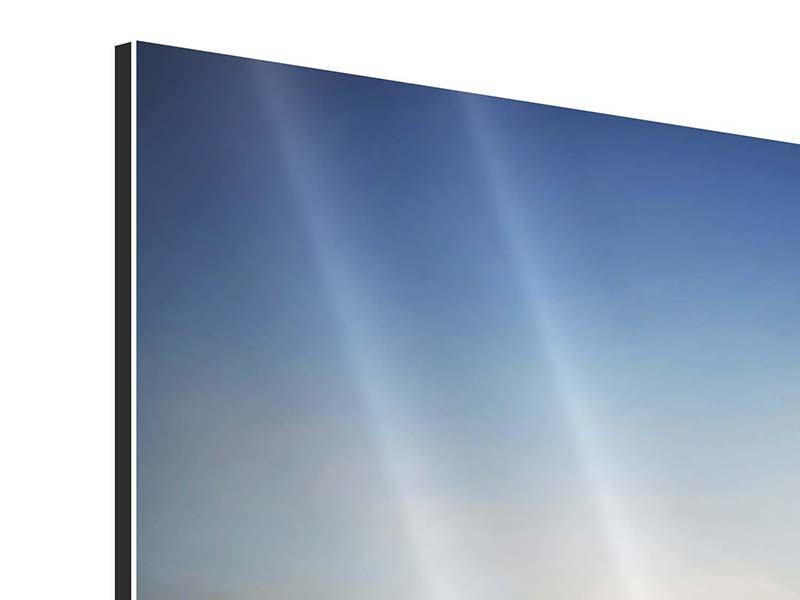 Aluminiumbild 9-teilig Sonnenaufgang am Feld