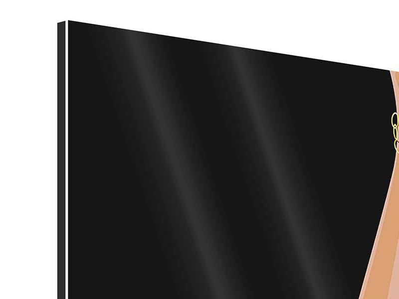 Aluminiumbild 9-teilig Der weisse High Heel