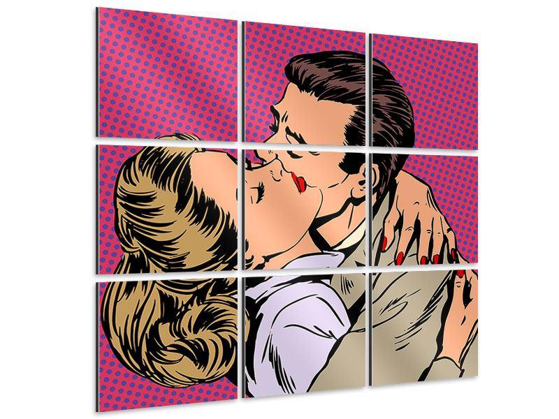 Aluminiumbild 9-teilig Pop Art Sehnsucht