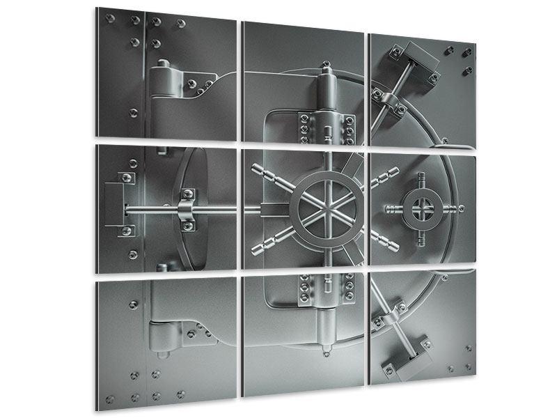 Aluminiumbild 9-teilig Tresor