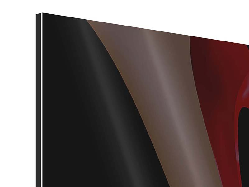Aluminiumbild 9-teilig Der rote High Heel