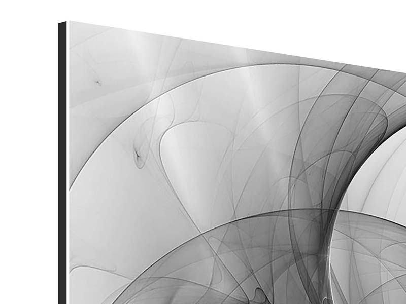 Aluminiumbild 9-teilig Abstrakte Kreisende Kreise