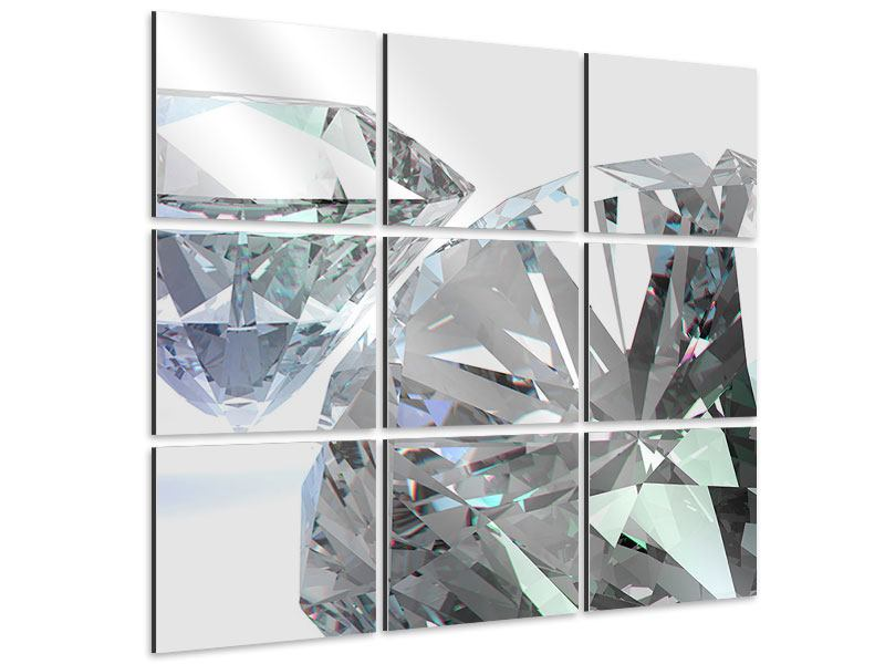Aluminiumbild 9-teilig XXL Diamant