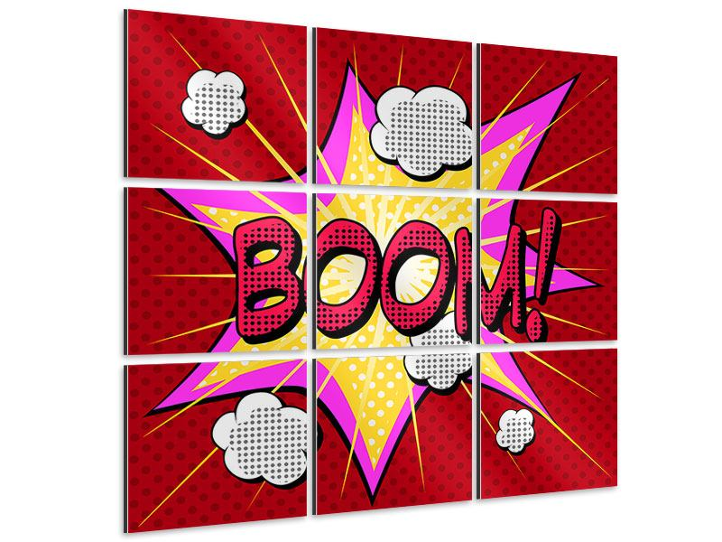 Aluminiumbild 9-teilig Pop Art Boom