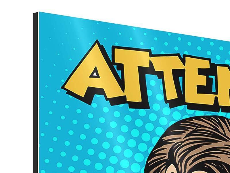 Aluminiumbild 9-teilig Pop Art Attention