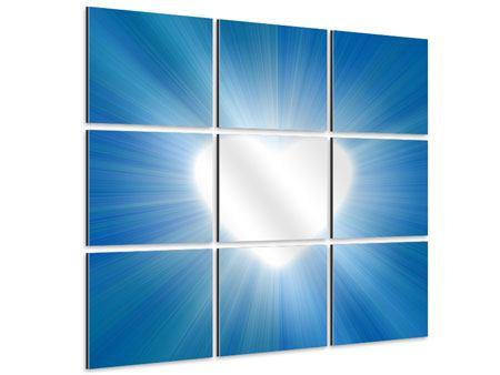 Aluminiumbild 9-teilig Himmelsherz