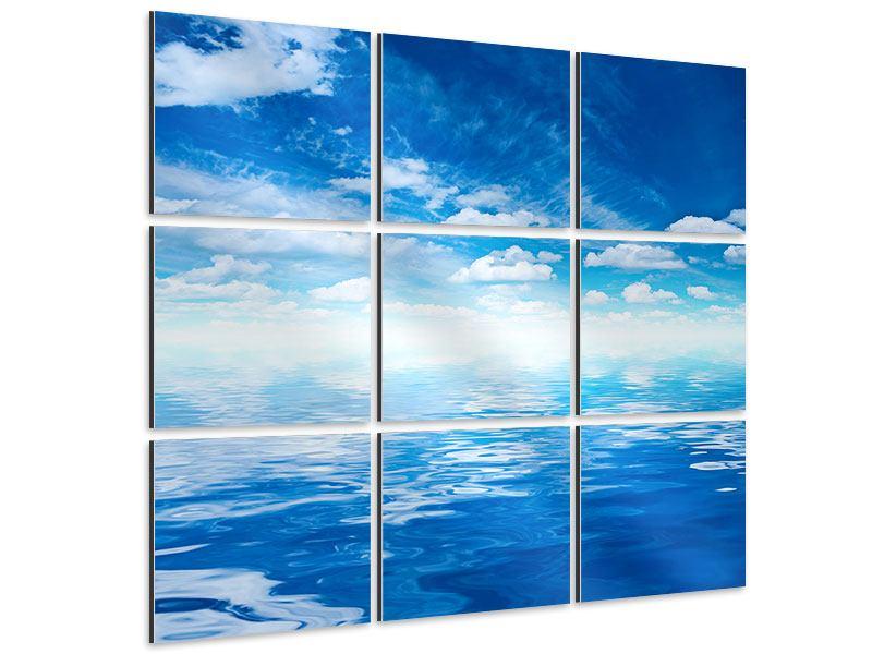 Aluminiumbild 9-teilig Himmel und Wasser